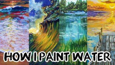 How I paint Water my best Tips techniques and favorite Tools  in landscape painting    TheArtSherpa