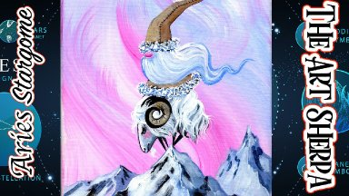 Aries  Star Gnome Step by step Acrylic Painting   TheArtSherpa