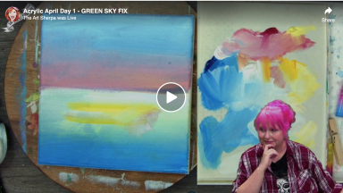 Green sky fix for Acrylic April 2021 Day 1