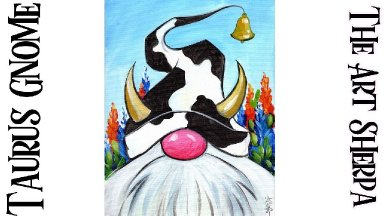 Beginners COUNTRY COW GNOME Live streaming Learn to paint Acrylic Tutorial Step by Step
