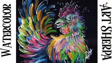 Metallic Watercolor Easy How to Paint Rage Chicken Step by step   The Art Sherpa