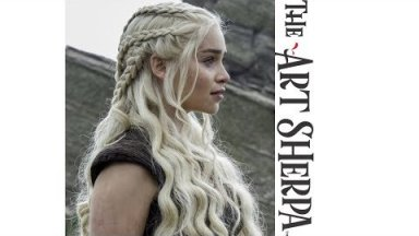 How to paint Daenerys Targaryen in Acrylic on Canvas