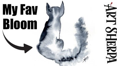 BLOOMING CAT  Easy How to Paint Watercolor Step by step   The Art Sherpa
