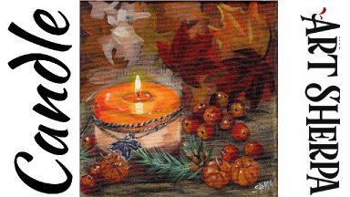 PUMPKIN SPICE CANDLE  Beginners Learn to paint Acrylic Tutorial Step by Step