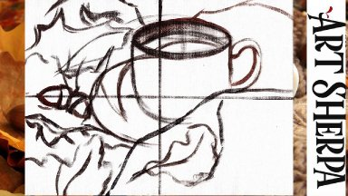 Fall coffee Cup Sketch it in Class