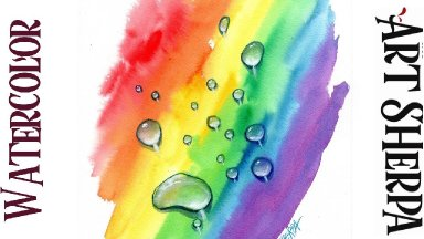 How to Paint REALISTIC WATER DROPS  Watercolor Step by step | The Art Sherpa