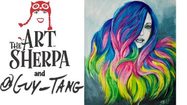 How to paint unicorn HAIR Acrylic painting tutorial inspired by Guy Tang