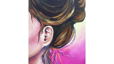 How to paint an EAR  Step by Step Acrylic Painting  tutorial #aboutface #11