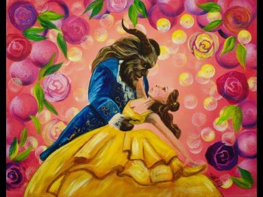 beauty and the beast dancing step by step beginner acrylic tutorial