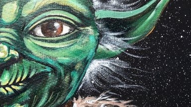 May the Fourth Yoda DIY Star Wars Learn to Paint Acrylic Step by Step About Face #8