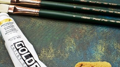 How to paint Steampunk copper patina Acrylic Paint on canvas Step by step