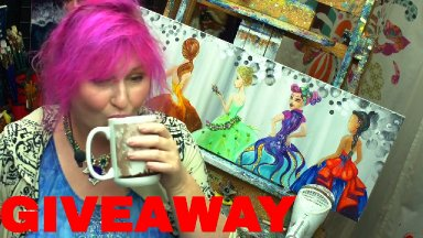 The Art Sherpa LIVE | Giveaway of this beautiful painting by Cinnamon Cooney