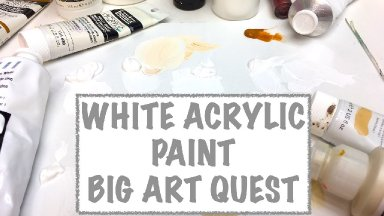Big Art Quest Acrylic White Paint colors What is different about them