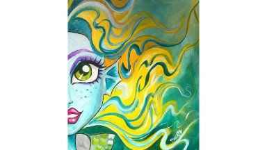 Lagoona Blue Monster High Acrylic Painting Tutorial for Beginners