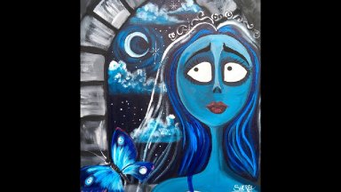 The Corpse Bride Step by Step Acrylic Painting on Canvas for Beginners