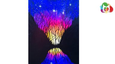 Beginners learn to paint  Galaxy Night Sky The Art Sherpa Acrylic painting