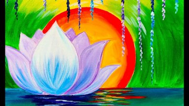 Videos » Zen Lotus flower step by step for Beginners Acrylic Tutorial