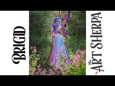 Brigid Spring Queen Fairy Acrylic Painting tutorial BAQ #1