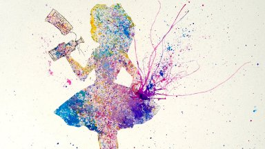 Alice in Wonderland Easy Acrylic Splatter Painting The Looking Glass Art Crawl