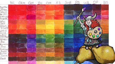 Big Art Quest #2   learn to make Custom Color charts   #bigartquest