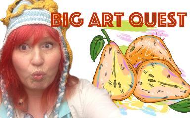 Big Art Quest Begins | Enjoyable painting class | #bigartquest #1