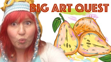 Big Art Quest Begins | Enjoyable painting class | #bigartquest #1