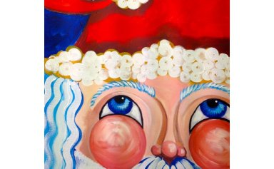 beginners learn to paint santa clause easy acrylic art lesson