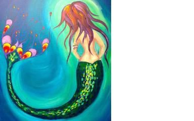How to paint   Mermaid    Beginner acrylic art lesson