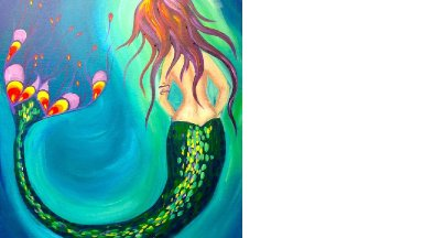How to paint | Mermaid |  Beginner acrylic art lesson
