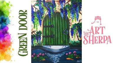 Green Door and wisteria Water garden Green Door and Wisteria Water garden