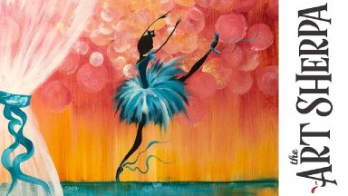 Easy How to paint with Acrylic on Canvas The Ballet Recital Step by step