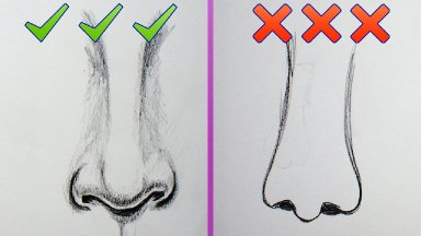 Do's and Dont's How to draw more realistic noses for beginners About Face #9