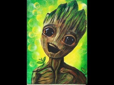 How to paint Baby Groot  Step by step About Face #GrootDanceBomb