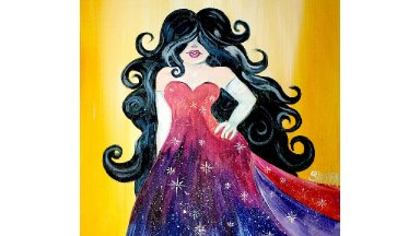 💋 Glamorous Girl 🎨🖍 Acrylic Painting tutorial for beginning artists 💜😍