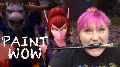 Learn to paint Starry Night World of Warcraft -Two Towers of Undercity -