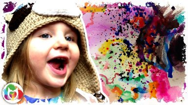 #BigArtQuest #13 Top Ten  Tips for painting with Kids