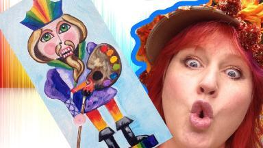 Holiday Art DIY   Artist Nutcracker   Silly Acrylic Art Lesson