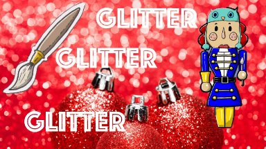 Live Holiday painting Idea | Glitter Nutcracker | Ginger Cook Live and The Art Sherpa