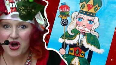 Nutcracker | Beginner Acrylic Painting tutorial | The Art Sherpa and Ginger Cook Live