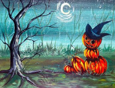 How to Paint   Halloween Pumpkin Man  Easy Art