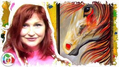 Spirit Horse | Beginning Acrylic Painting Lesson