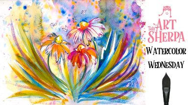 How to paint with  Watercolor step by step  flowers the Art sherpa