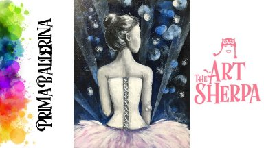 How to paint with Acrylic on Canvas Prima Ballerina The Art Sherpa