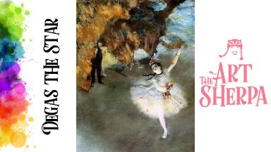 How to paint with Acrylic on Canvas Degas The Star