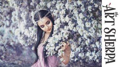 The Flower Elf Acrylic Painting  on Canvas  Fairy Tale part 1