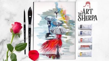 Beginners how to paint watercolor FREE Livestream The Rain Parade with The Art Sherpa