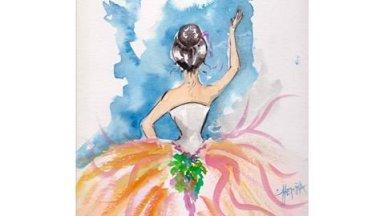 Ballet Dancer in Watercolor