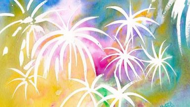 Fireworks in Watercolor