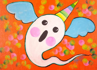 Easy Painting in acrylic Halloween Live stream paint along