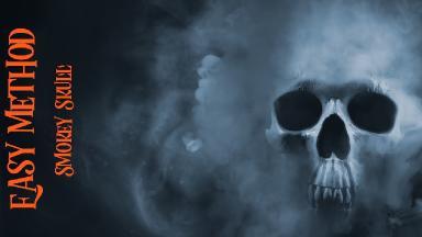 Easy method Smokey Skull Painting in Acrylic paint on Canvas